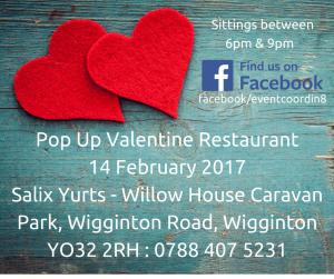 Pop Up Valentine Restaurant Ad